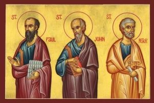 The Apostles Paul, John, Peter