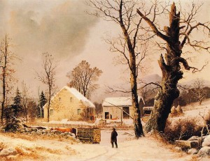 G.H. Durrie - Winter Scene in New England (1851)