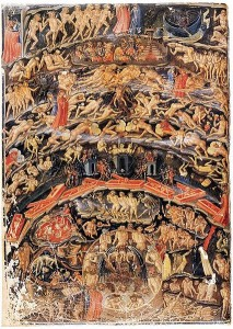 Dante's Inferno, depicted by Bartolomeo di Fruosino (c. 1366-1441), Bib nat de France